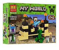 """Конструктор Bela Minecraft 10190 """"2в1"""", 53 детали"""