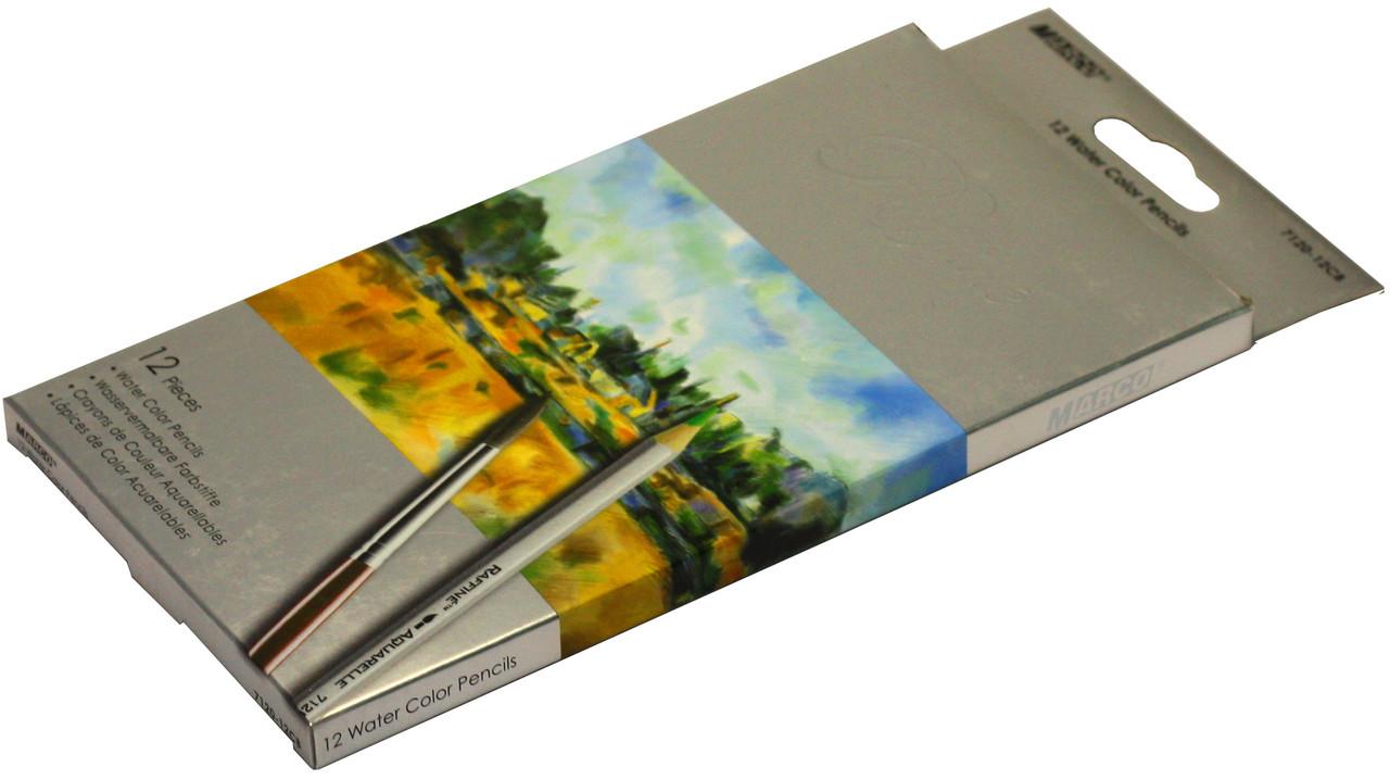 Карандаши цветные акварельные Marco Raffaine 12 цветов