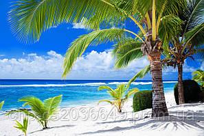 Скинали Море Пляж Пальмы - стекло с фотопечатью