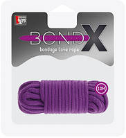 Веревка для бондажа Dream Toys - BONDX LOVE ROPE - 10M PURPLE (DT20863)