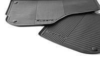 Коврики в салон передние резиновые комплект (2 шт) Superb 2008>