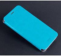 Кожаный чехол книжка Mofi для Samsung Galaxy A7 A710f 2016 голубой