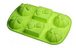 Силіконова форма для випічки 6 Бантиках 28.5*18*4 см