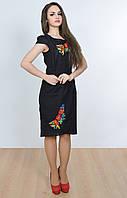 Красивое женское платье-вышиванка с маками