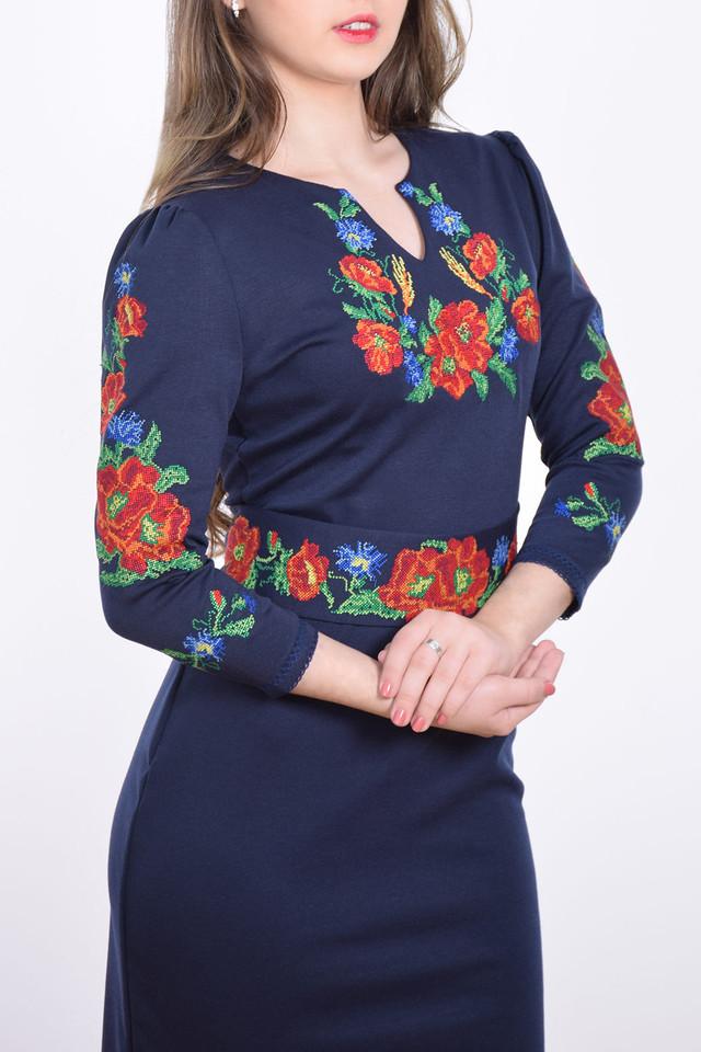 Женское вышитое платье с длинным рукавом  продажа d563e3184631d