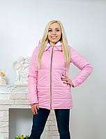 Куртка женская с капюшоном розовая, фото 1