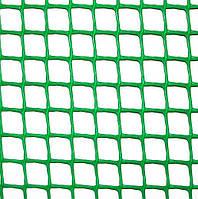 Сетка пластиковая 'забор' яч. 13х13 мм, рул. 1х20 м (темно зеленая) Клевер