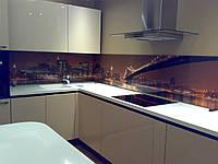 Стеклянные панели на рабочую поверхность кухни, стеклянный фартук, фото 1
