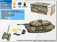 Танк р/у аккум 516-10A (516-10) пульт на батар.
