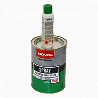 Автомобильная шпатлевка NOVOL Spray жидкая 1кг + отвердитель