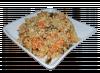 Салат угорь с лососем под рисом