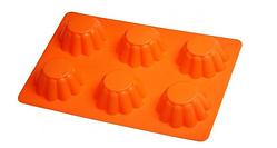 Силіконова форма для випічки кексница рифлена 25.5*18*4см(шт)