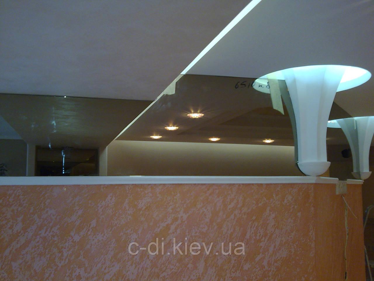Обшивка стен стеклом, зеркалами, стеклянный фартук на рабочую стенку кухни