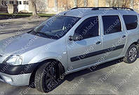Рейлинги на крышу Дачия Логан универсал (продольные рейлинги Dacia Logan MCV концевик.сталь)