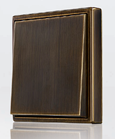 Выключатели и розетки JUNG серия LS металл латунь, фото 1