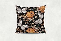 Подушка Бабочки (чёрный)