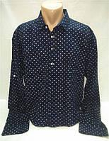 Рубашка мужская темно-синяя р. 2XL