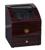 Шкатулка для подзавода часов, тайммувер для 2-х часов Rothenschild RS-721-EB