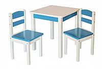 """Детская мебель с натурального дерева. Комплект стол и два стула """"Юниор"""""""