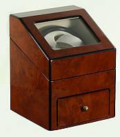 Шкатулка для подзавода часов, тайммувер для 2-х часов Rothenschild RS-621-2-DB
