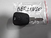 Корпус ключа на 2 кнопки Citroen Berlingo, фото 1