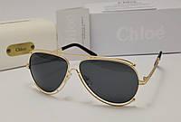 Женские солнцезащитные очки Chloe Isidora Aviator темно серая линза, фото 1