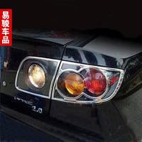 Хром накладки на стопы на Мазда-3 с 03-09 седан (хром пластик) Китай.