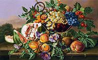Схема для вышивки бисером «Натюрморт с персиками»