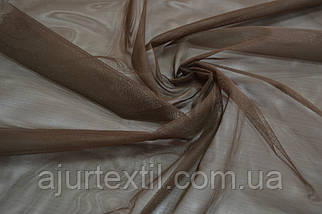 Тюль фатин темно коричневый, фото 3