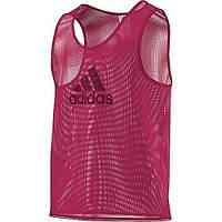 Футбольная манишка adidas красная TRG BIB 15 F82134