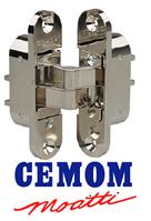 Скрытая петля Cemom правая / левая (100кг) никель глянцевый