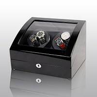 Шкатулка для подзавода часов, тайммувер для 4-х часов Rothenschild RS-031BB-F