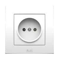 Розетка одинарная без заземления внутренняя белая Neo El-Bi