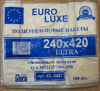 Пакет майка euroluxe 24*42 белый