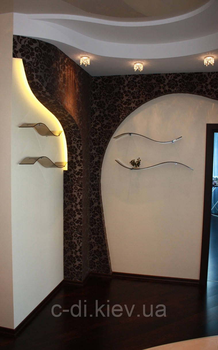 Стеклянные полки и зеркала