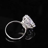 Женское серебряное помолвочное кольцо (фианит)