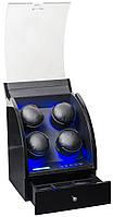 Шкатулка для подзавода часов, тайммувер для 4-х часов Rothenschild RS-324-4-BBD