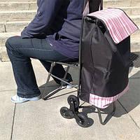Сумка на колесах, со стулом - хозяйственная сумка