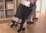 Сумка-тележка со стулом - дорожная сумка на колесах (синяя), фото 4