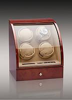 Шкатулка для подзавода часов, тайммувер для 4-х часов Rothenschild RS-324-4-DB