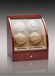 Скринька для підзаводу годин, тайммувер для 4-х годин Rothenschild RS-324-4-DB
