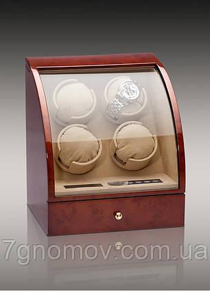 Шкатулка для подзавода часов, тайммувер для 4-х часов Rothenschild RS-324-4-DB, фото 2