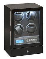 Шкатулка для подзавода часов, тайммувер для 4-х часов Rothenschild S204-LB