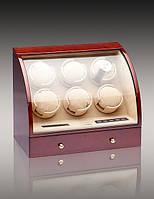 Шкатулка для подзавода часов, тайммувер для 6-и часов Rothenschild RS-326-6-DB