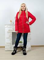 Куртка удлиненная женская красная, фото 1