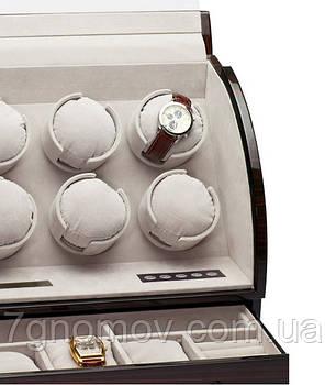 Шкатулка для подзавода часов, тайммувер для 6-и часов Rothenschild RS-326-6-E, фото 2
