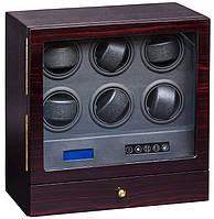 Шкатулка для подзавода часов, тайммувер для 6-и часов Rothenschild S206-LE