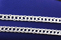 Серебряная цепочка плетение двойной ромб