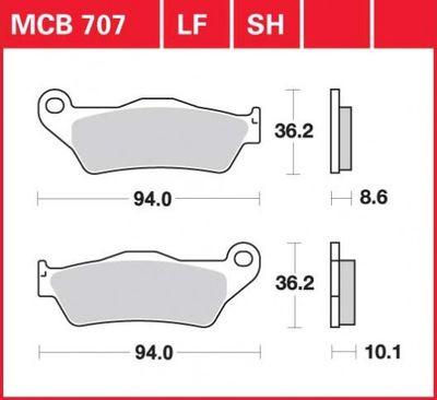 Колодки тормозные BMW TRW / Lucas MCB707SH