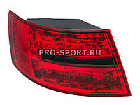 Альтернативная оптика для AUDI A6 `04-`08, T/L, фонари задние, светодиодные, красные, тонированные (тюнинг оптика, цена за комплект)